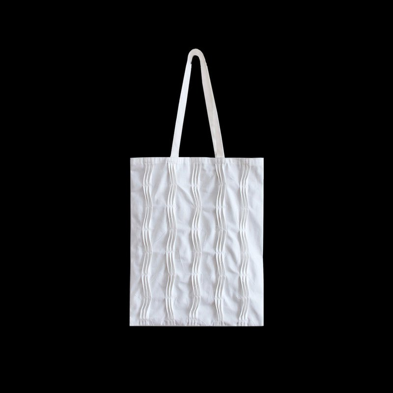 White canvas bag one shoulder portable tote bag