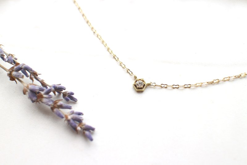 Promise-zircon brass necklace