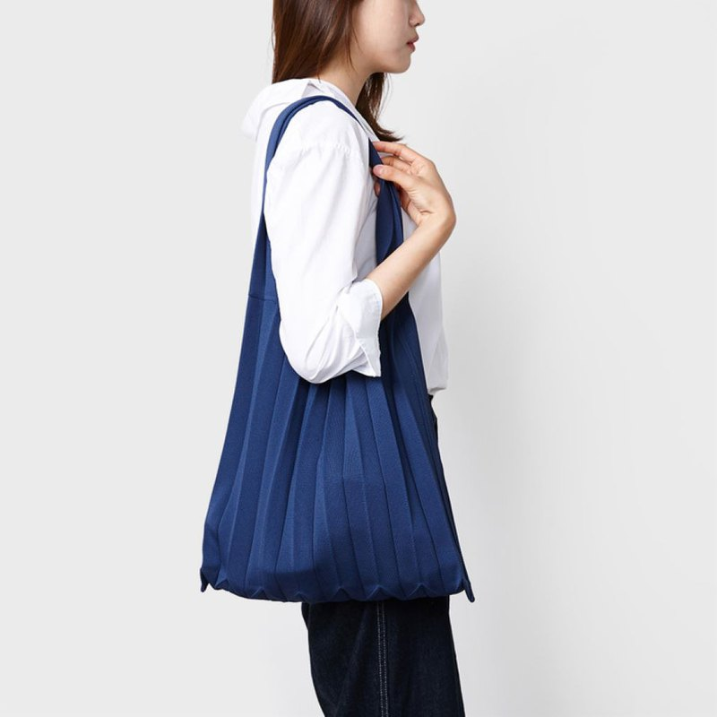 PLEATS MAMA Knit Pleats_Shoulder (Navy)