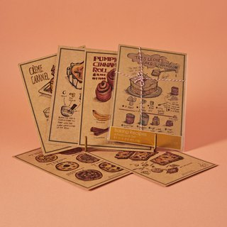 Baking Recipes Postcards Set