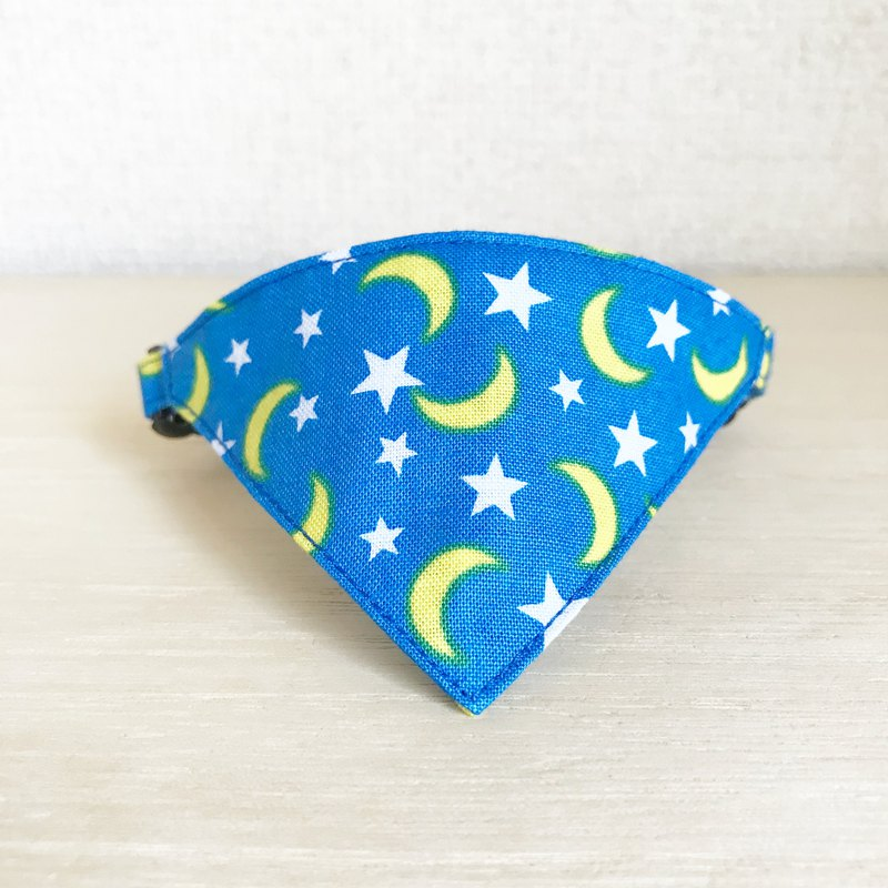 Moon and star pattern Bandana-style collar for cats Safety buckle Safety collar