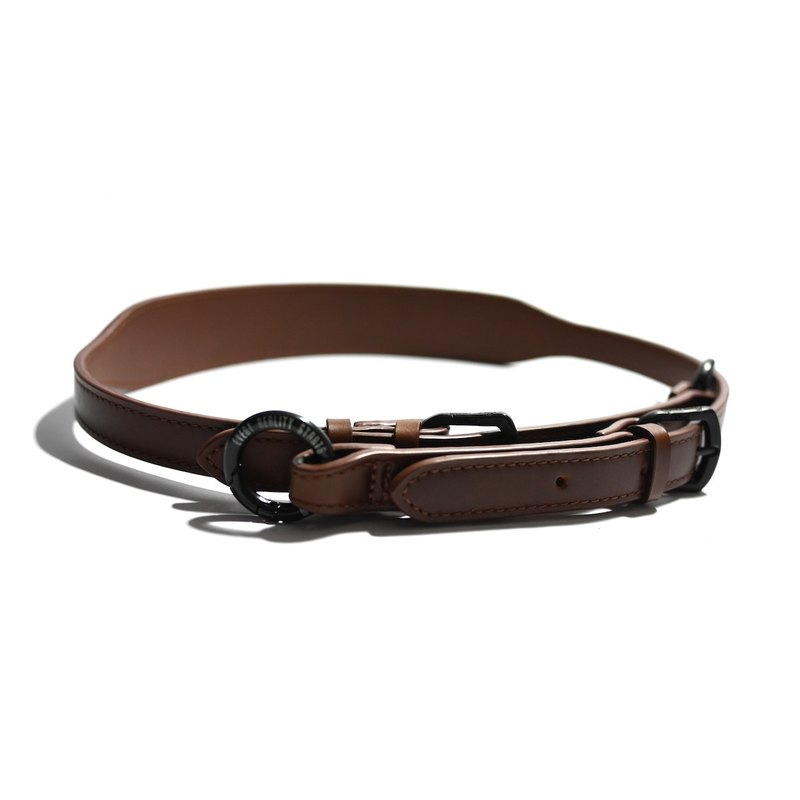 Brown leather wide strap - specialty