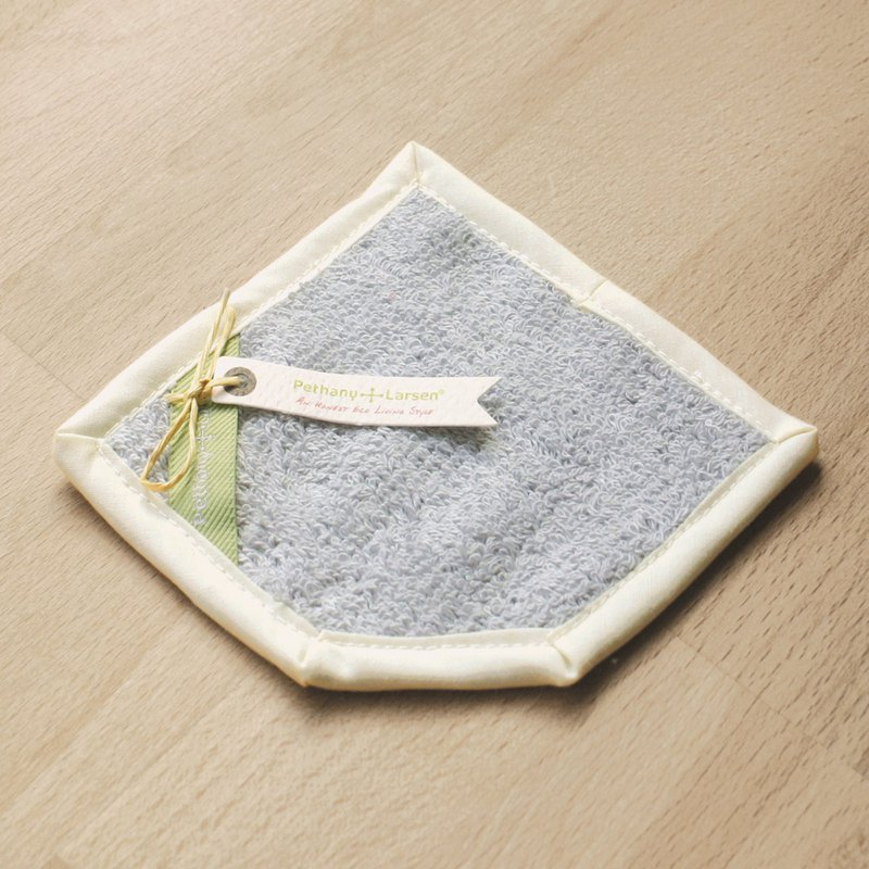 [Good feelings of life] silver blue - cotton absorbent wiper coaster