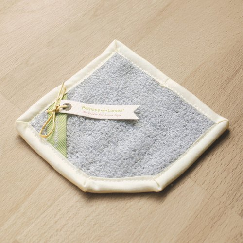 Thick woven towel silver blue wipe coaster