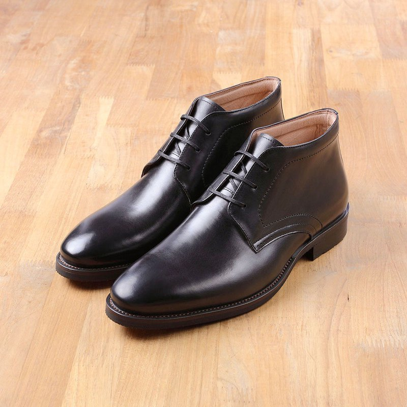 Vanger will style calm derby low boots Va217 black