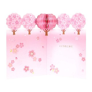 ◤ cherry blossom season | Pink Pop-up Card | JP