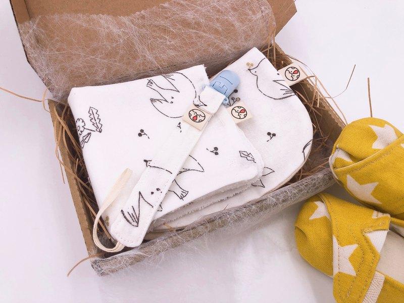 彌月禮盒 - 三件式 飛鳥