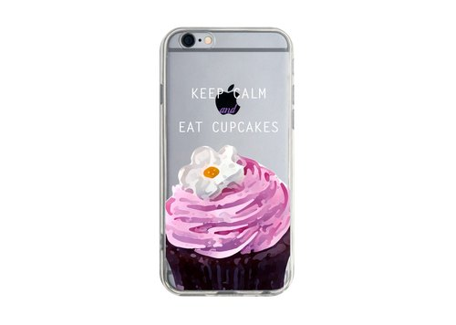 Custom cupcakes inspirational sentence Series 3 Transparent Samsung S5 S6 S7 note4 note5 iPhone 5 5s 6 6s 6 plus 7 7 plus ASUS HTC m9 Sony LG g4 g5 v10 phone shell mobile phone sets phone shell phonecase