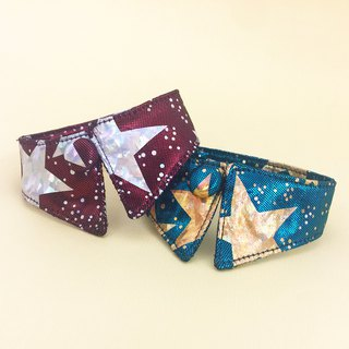 Flash star dog cat button collar