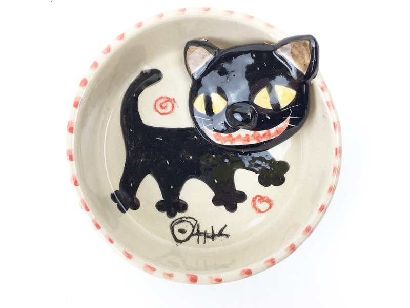 Nice Little Clay manual stereo disc _ smiling black cat 112525