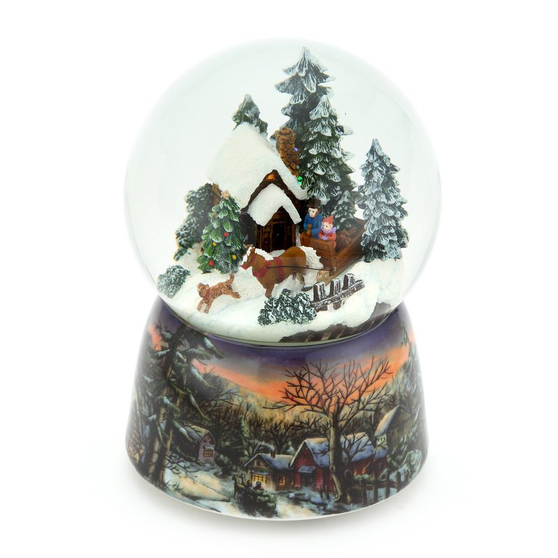 Snow Forest Roaming Crystal Ball Music Box Birthday Christmas Exchange Gift Healing Small Things