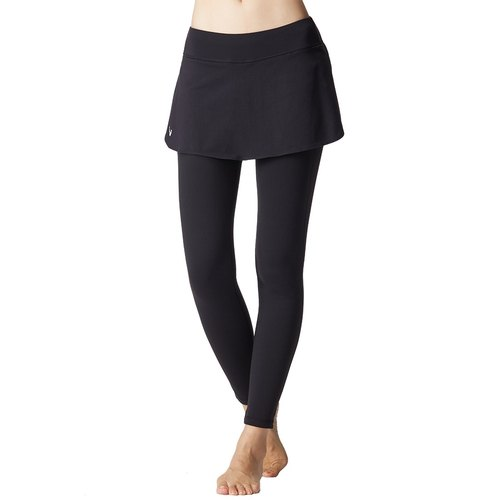 [] MACACA clad buttock skirt slender piece Pants - ATG7581 black (yoga / jogging / fitness / light movement)