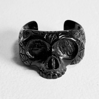 OUTER SPACE Doomsday Skull Bracelet (Black)