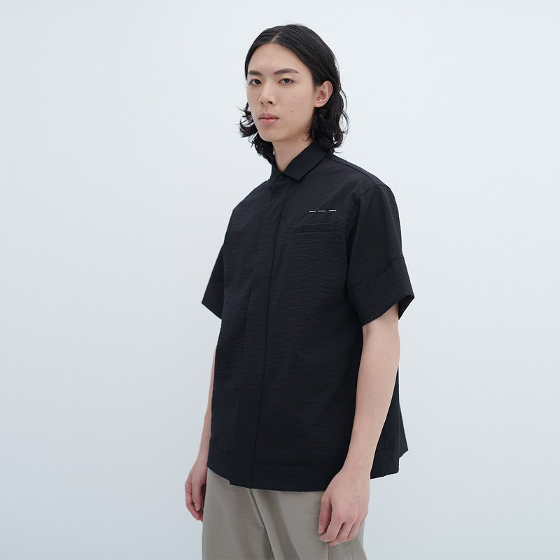 TRAN - Wide Edition Buttoned Shirt