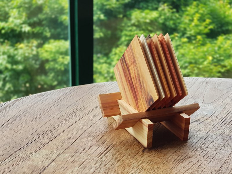 【BESTAR】 SIX COASTER SET FORMOSAN REDWOOD