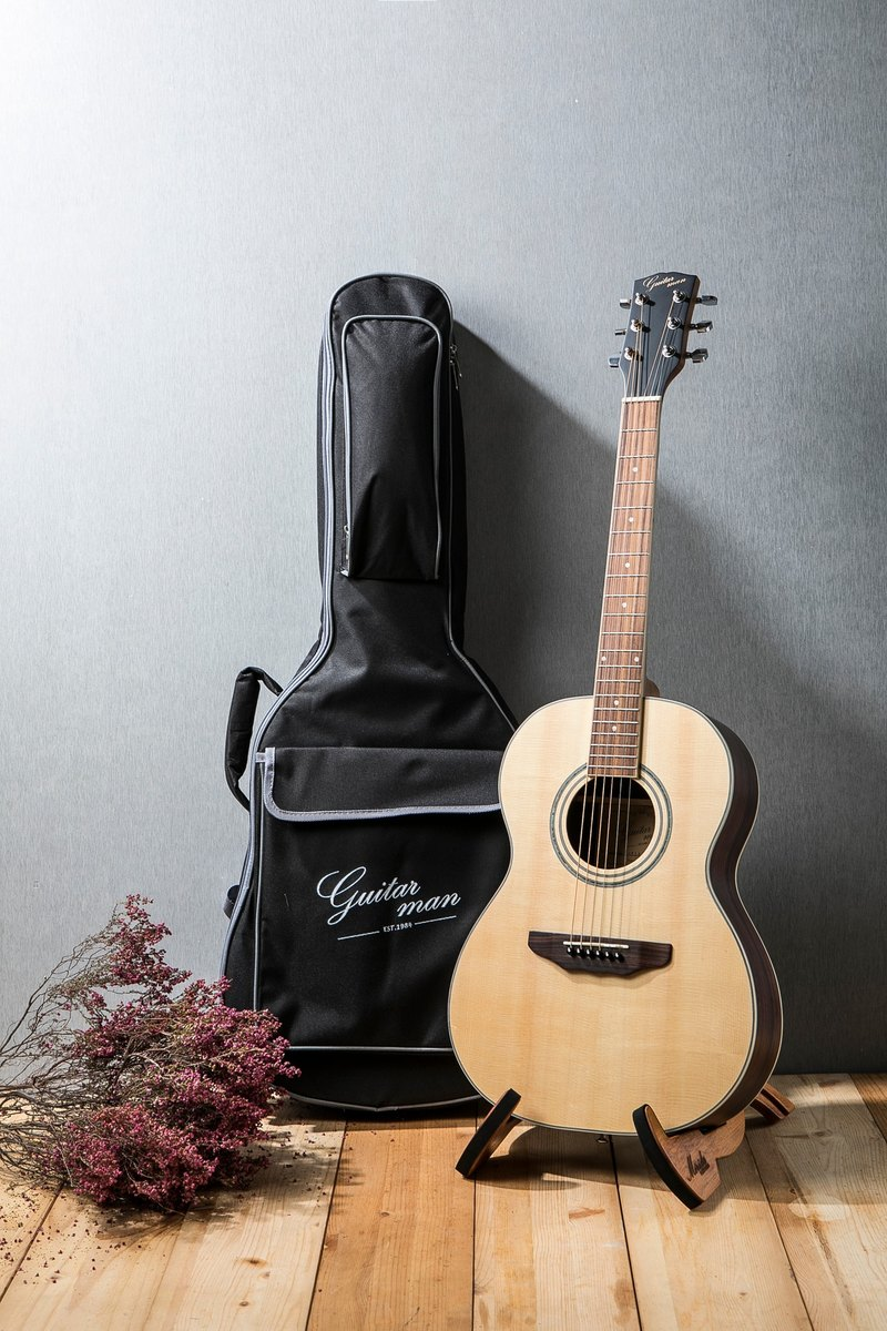 Taiwan original guitarman T-31AE 36 inch spruce surface single hand travel electric wood guitar pickup plate