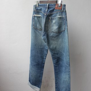 45RPM Japanese Red Ear Jeans Natural Wash Brush