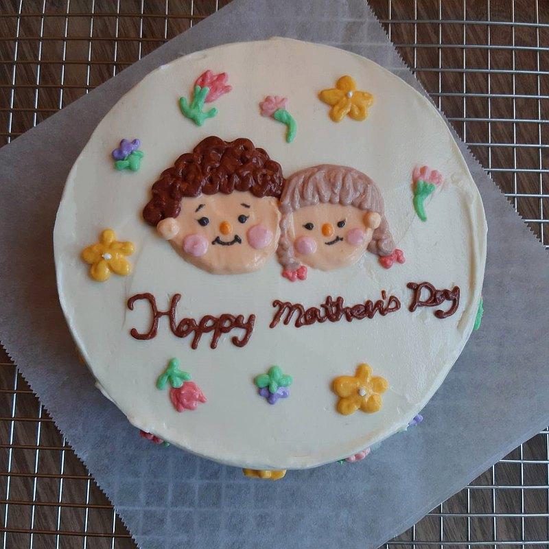 【母親節客製】媽媽我愛你手繪蛋糕-4吋,6吋