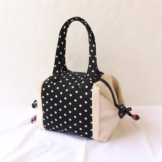 Polka-dope stitching lace-shaped handbag