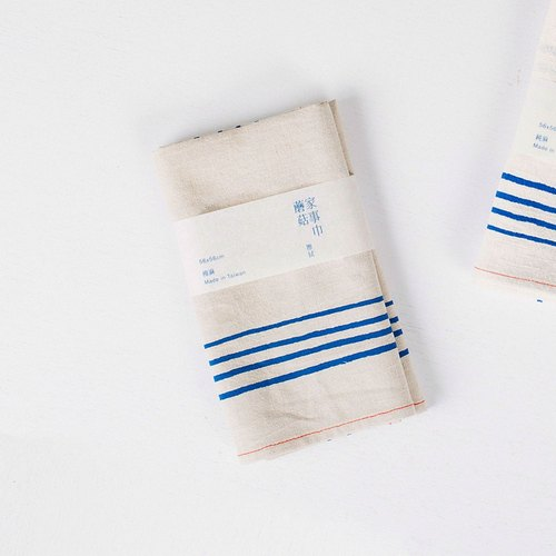 Mushroom MOGU/Cotton square towel/Kitchen wipe/Blue line