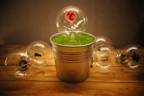Edison-Industry Edison Industrial Creative Bonsai Lights Exchange Gifts Birthday Gifts Valentine Gift Night Light Rose Flower Bulb