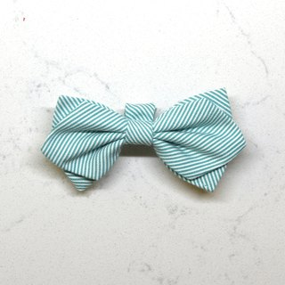 Handmade Classic Striped Pet Dog Collar Accessory-Bowtie - Fresh Green【ZAZAZOO】