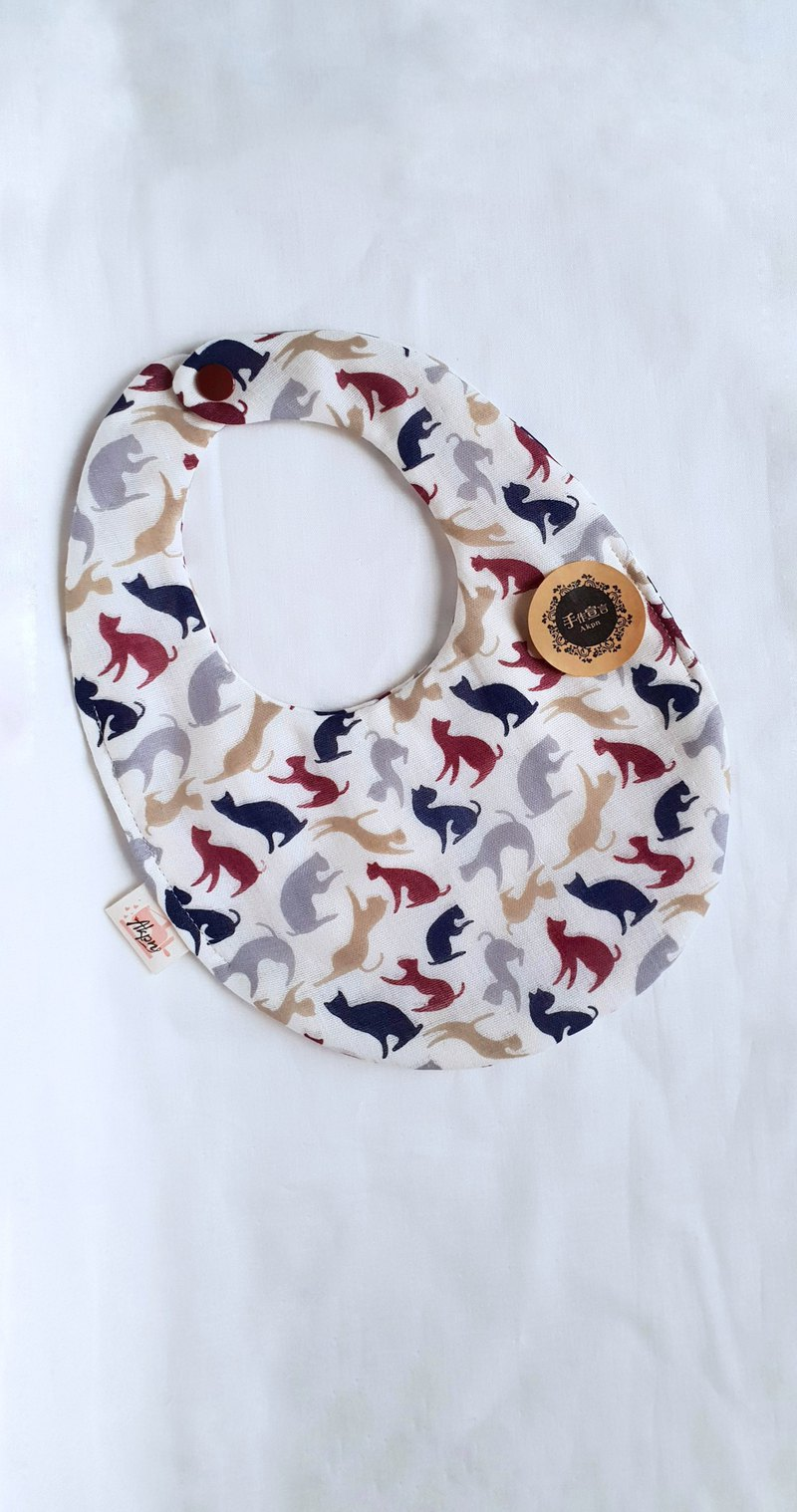 A lot of cats - eight-layer double-sided egg bib saliva towel