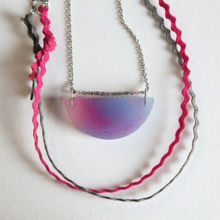 Resin Necklace / Before Sunrise