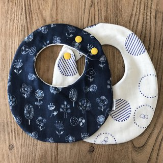 tout rond / Reversible Stay (Flower - Navy)