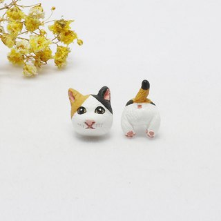 Cat Earrings (Ear / Ear Clip) | Hand | Animals | Accessories | Ornaments |