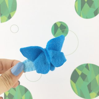 Butterfly three-dimensional hairpin(Blue color)