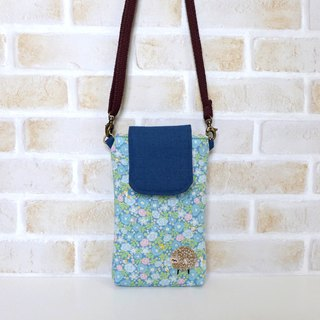 Embroidery Sheep Mobile Bag - Flower Cats (with strap)