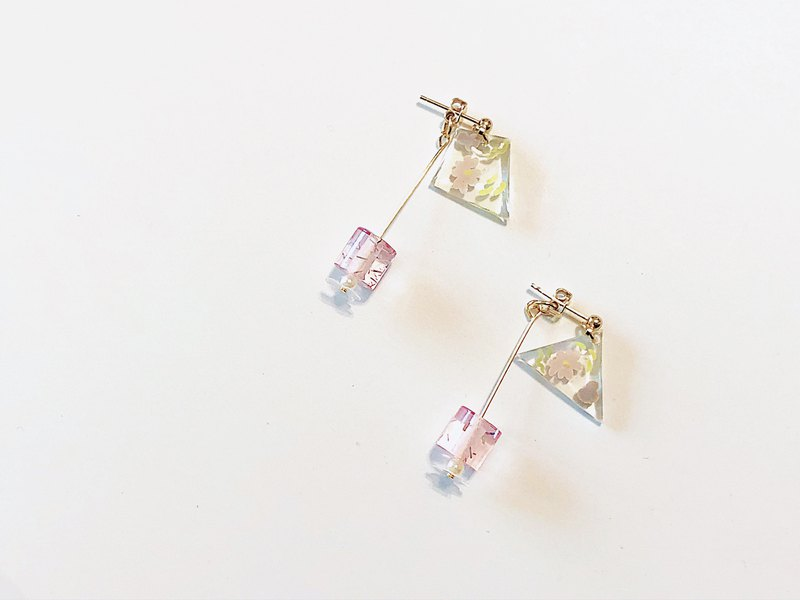 Flower Palette Series-Handmade Earrings with Handmade Drops