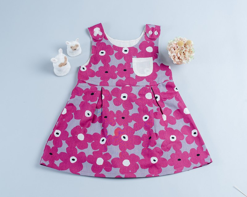 Pocket dress - patchwork 4 children's newborn children's wear children's hand-made dress