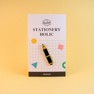 Dimeng Qi - Stationery control badge [Pen / Black]