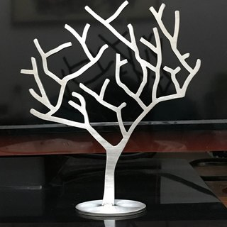 * Very special * Stainless steel jewelry tree, metallic color, unique texture, 3mm thickness version, but also direct writer in the decorations, racks, furnishings, Christmas gifts, gifts