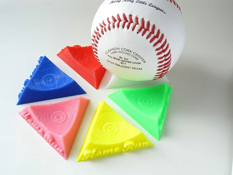 Home Run home run baseball display / display stand (1 set of 6) customizable text | Sporting goods