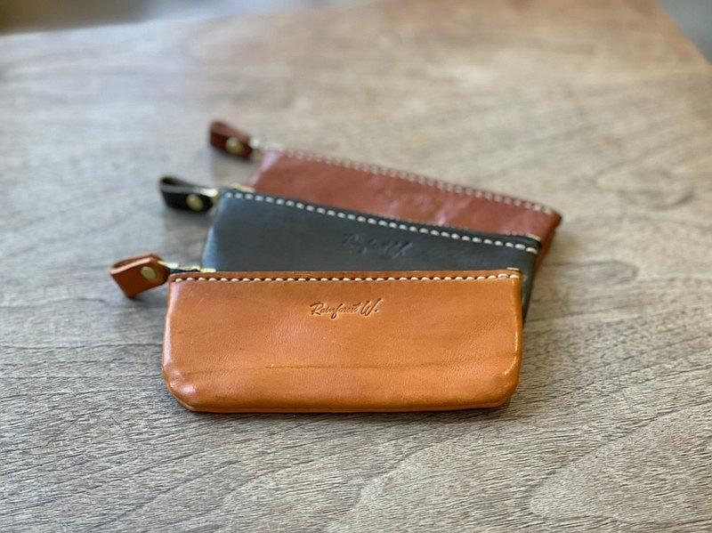 【手作革物】手作真皮拉鍊錢包-S尺寸(駝、咖、綠)
