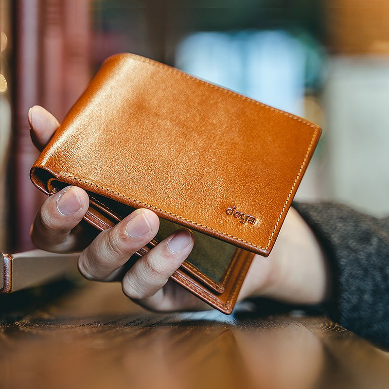 Italian classic leather RFID anti-theft wallet