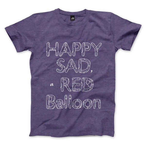 HAPPY SAD a RED Balloon - Purple heather - Unisex T-Shirt