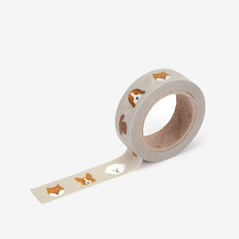 Dailylike single roll of paper tape -77 small head dog, E2D48156