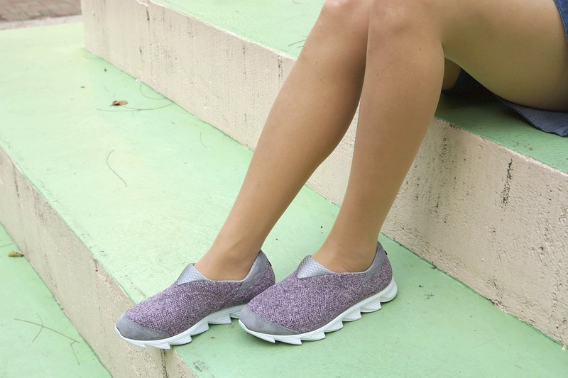 VPEP walking shoes / twist purple, gray, white