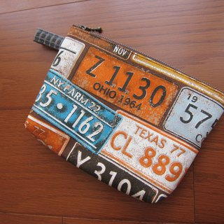 Retro license plate universal bag