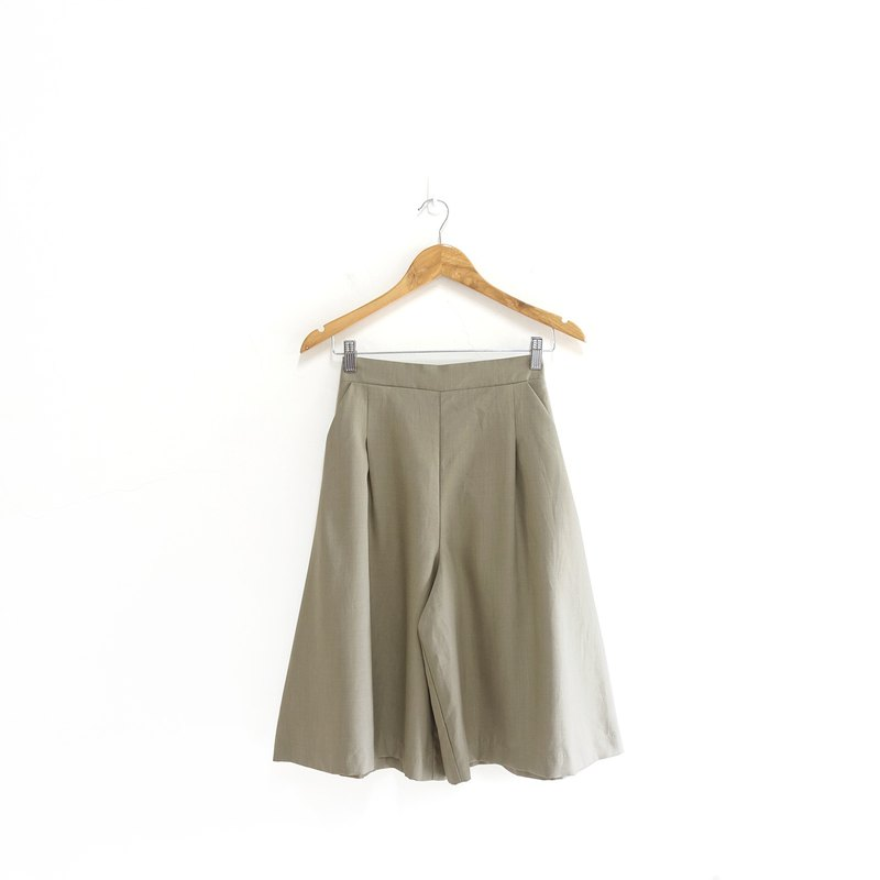 │Slowly│ plain 5 points wide pants - vintage pants │vintage. Retro. Literature. Japanese system
