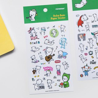 Ponybrown Buha Bear Sticker Green - Celebrate, PNB87231