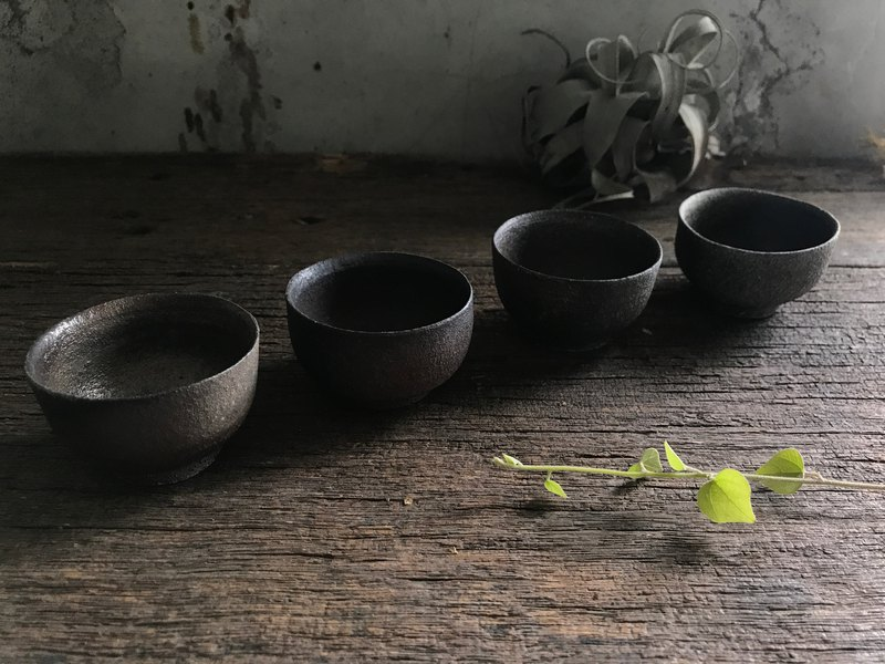 Firewood small tea cups in groups of four