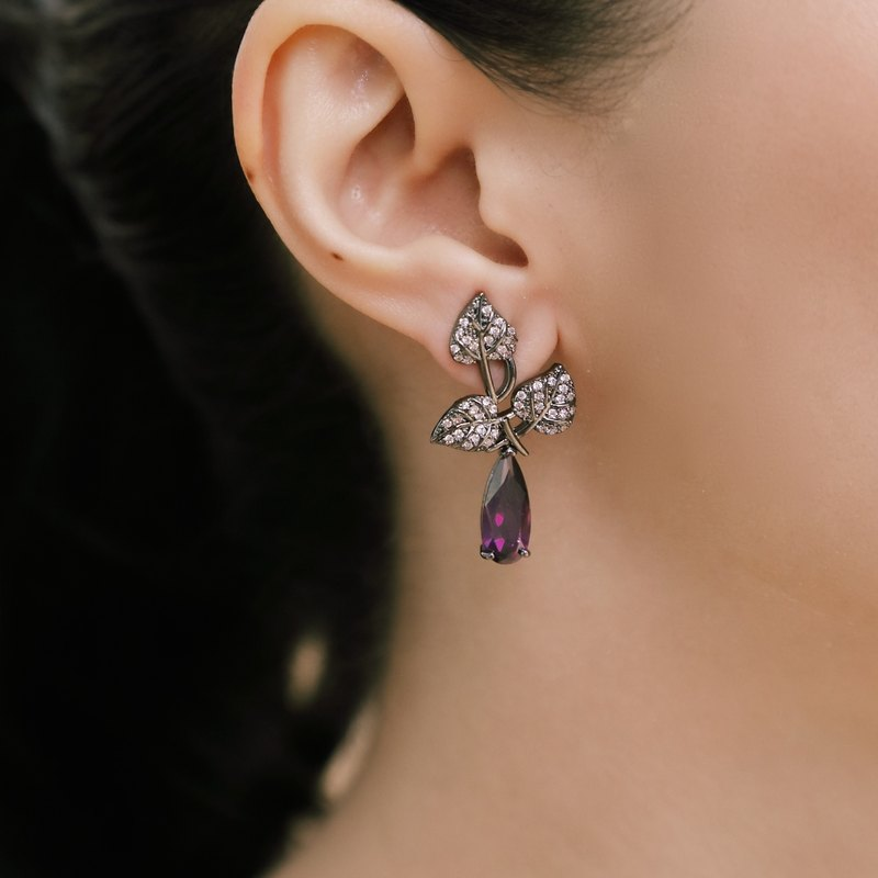 Moonlight Forest amethyst earrings