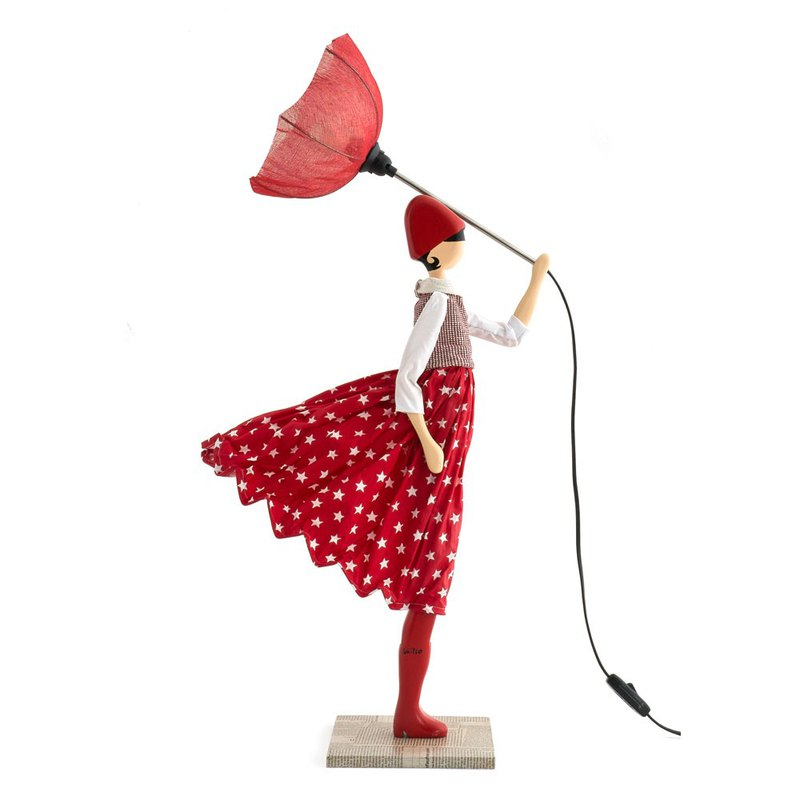 Wind Little Girl Fashionable Lamp Amy Order Production Handmade