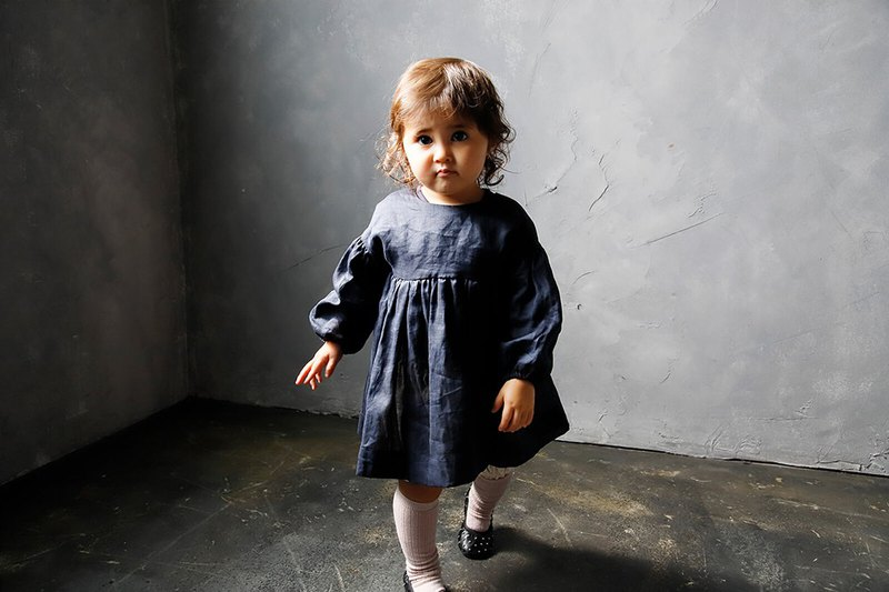 MARLMARL Apron_Greece series navy navy baby