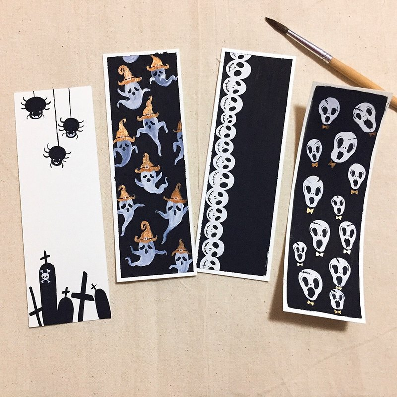 Halloween Gifts Cute Hand-painted Bookmarks Exclusive Non-Printing Couples Friends Gifts Ghosts